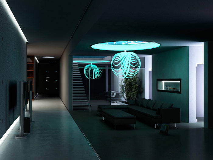 Interior Design Lighting Illuminated ...